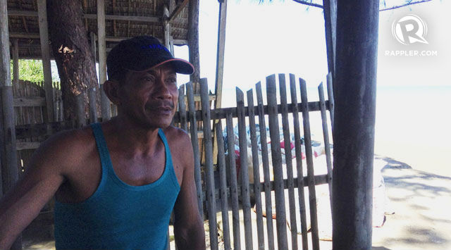 SURVIVING. Rolando Merto shares his experience of hunger during a disaster, and the challenges of being a farmer and a fisherman. Photo by Karen Liao/Rappler