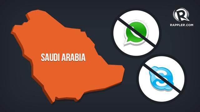 Apps threatened in Saudi Arabia