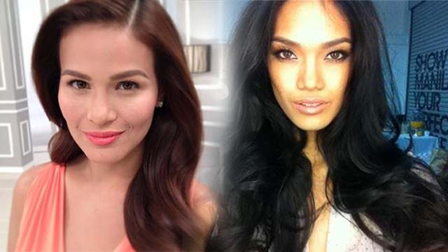 CELEBRITY FAVORITE. Actress Iza Calzado and Ford supermodel Danica Magpantay (Lala's daughter) in makeup by Lala. Photos courtesy of Victoria Herrera