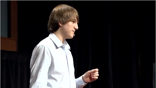 Framegrab from Jack Andraka's TED talk / Courtesy of TED
