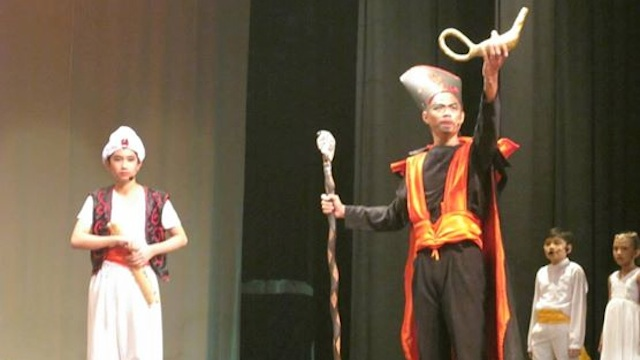 PASSION FOR THEATER. Daniel played the role of Jafar at his high school's play. Photo from Daniel's Facebook page