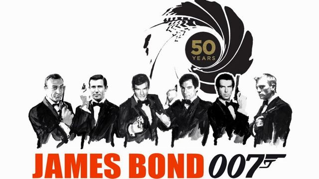 PICK YOUR BOND. Sean Connery, George Lazenby, Roger Moore, Timothy Dalton, Pierce Brosnan and Daniel Craig. Image from the James Bond 007 Facebook page