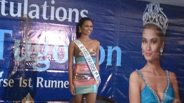 MISS UNIVERSE. 1st runner-up Janine Tugonon is home. Photo from Twitter account of Eric Tayag