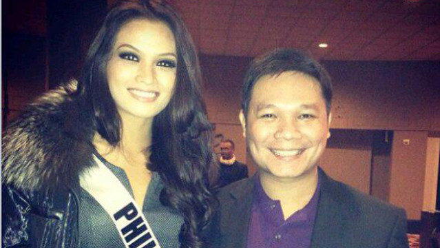 READY FOR THE NEXT ROUND. Miss Philippines Janine Tugonon right after the December 13 Preliminary Competition with Jonas Gaffud. Instagram photo by Jonas Gaffud posted on his Facebook page