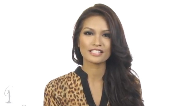 3 QUESTIONS, 3 ANSWERS. Get to know Janine Tugonon just a little bit better in this Miss Universe exclusive. Screen grab from YouTube (OfficialMissUniverse)