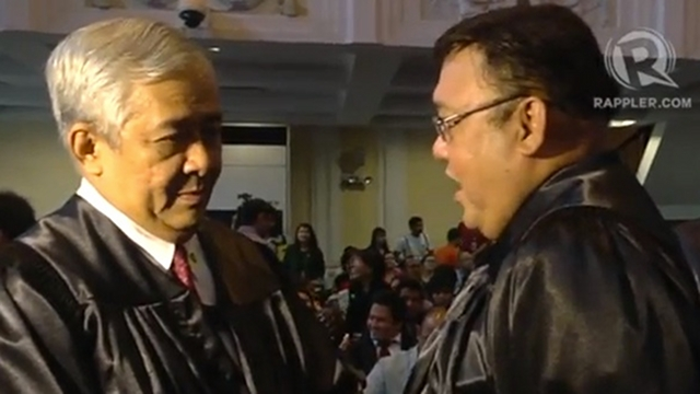 GOVERNMENT'S STAND. Solicitor General Francis Jardeleza (left) in a file photo