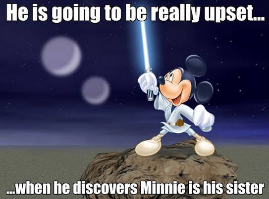 JEDI MICKEY. Photo from 9Gag