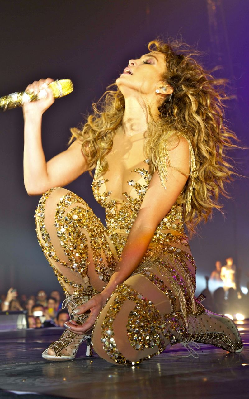 ON THE FLOOR. Jennifer Lopez, the all-out dancer and singer