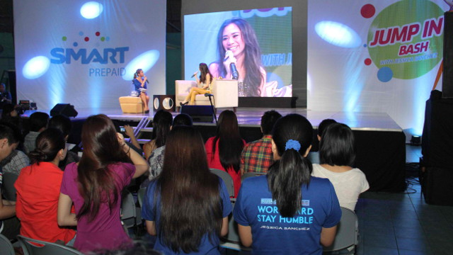 The press conference was Jessica's launch as the official endorser of Smart's 'Jump In' campaign