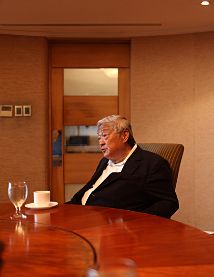 FILIPINO BILLIONAIRE. The simple life of John Gokongwei Jr. Photo by Jake Verzosa