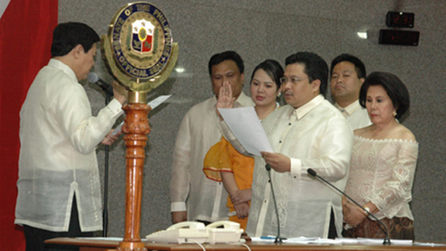 'VERY UPSET.' Sen Jinggoy Estrada says he is upset and hurt by statements of his brother Rep JV Ejercito about their sibling rivalry possibly reaching the Senate. Ejercito said Estrada misunderstood his statements. File photo from Senate website 