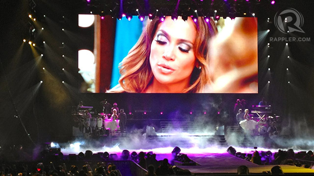 Opening video before JLo appeared onstage for the first time. Photos and video by Kai Magsanoc