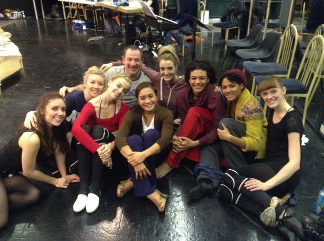 SEXY CATS. Ampil (4th from left) with the cast of 'Cats' at Teddington Studios in London. Photo from the Joanna Ampil Facebook page
