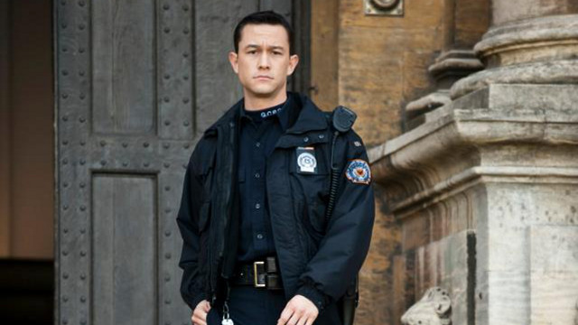 WILL HE JUMP? Joseph Gordon-Levitt as Blake in 'The Dark Knight Rises.' Photo from the TDKR Facebook page, courtesy of Warner Bros