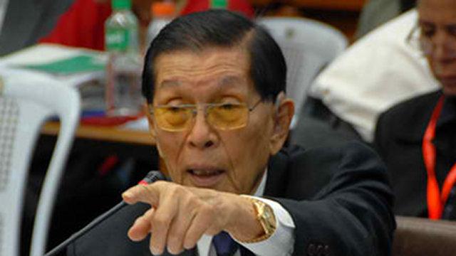 Masking interests senator miriam defensor santiago accuses enrile