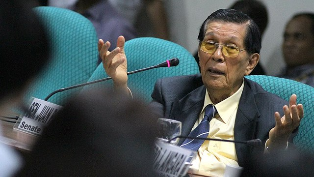 speech of senate president juan ponce Another power of the senate president lies in the use of senate savings, which became controversial in 2013 following reports that senate president juan ponce enrile gave about p30 million to senators as gifts just before the christmas break of 2012.