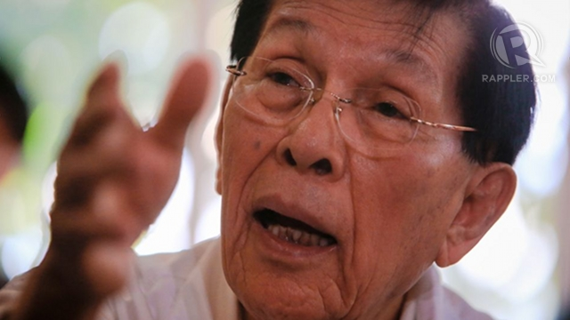 CONTROVERSY. Senate President Juan Ponce Enrile in a file photo