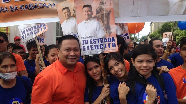 ESTRADA FACTOR. Rep JV Ejercito is using the Estrada name in his campaign. He says his father told him it is known more in far-flung areas. Photo from Rep Ejercito's Facebook page
