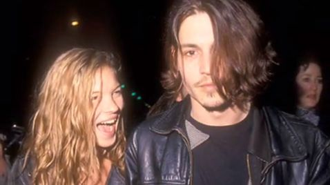 MUST HAVE BEEN LOVE. Kate Moss and Johnny Depp were 'rebels' in their own way. Screen grab from YouTube (Amanda Torres)