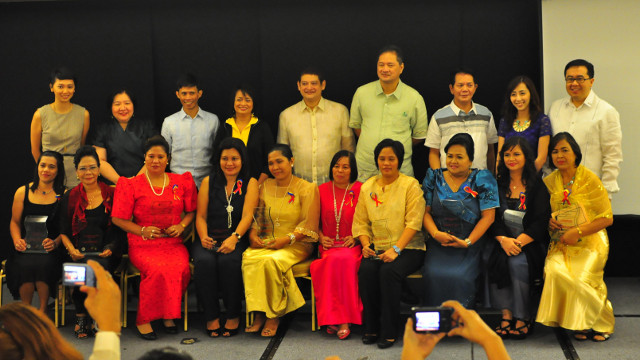 Winners of the Dakilang Barangay Health Workers Awards