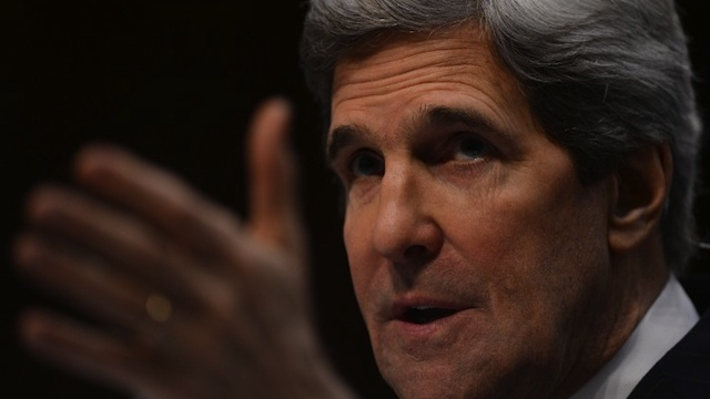 TOP DIPLOMAT. US Senator John Kerry, D-MA, US President Barack Obama's nominee for Secretary of State, faces his colleagues as he testifies before the Senate Foreign Relations committee during his confirmation hearing on Capitol Hill in Washington DC on January 24. AFP Photo/Saul Loeb