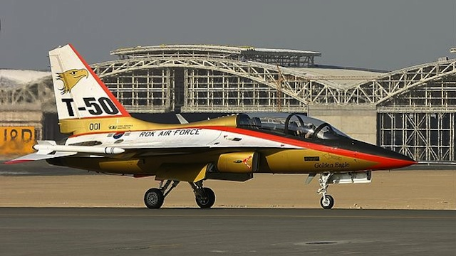 MADE IN SOUTH KOREA. T-50 is South Korea's first indigenous supersonic aircraft and one of the world's few supersonic trainers. Photo from Wikimedia Commons