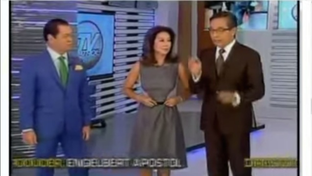 CONTROVERSIAL. Anchor Korina Sanchez says Filipinos can still pray away Typhoon Ruby and expresses hope it hits Japan instead of the Philippines. Screengrab from YouTube