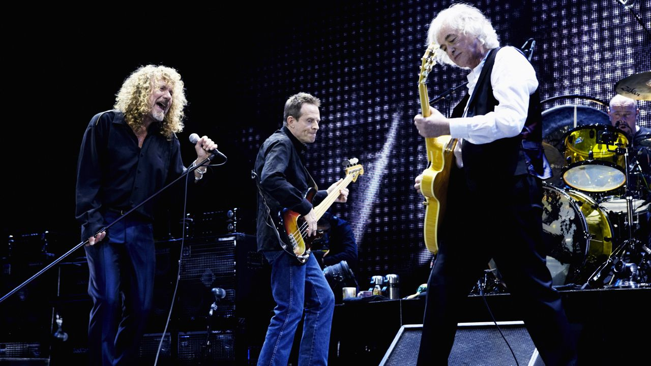 WHOLE LOTTA LOVE FOR LED ZEP. The legendary rock band at their reunion concert in 2007. Photo by Ross Halfin