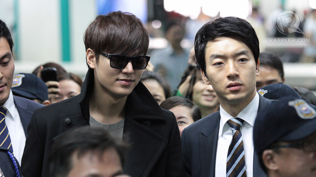CITY HUNTER IN THE FLESH. South Korean actor Lee Min Ho at the arrival area of the Ninoy Aquino International Airport on November 15. All photos by Jedwin Llobrera