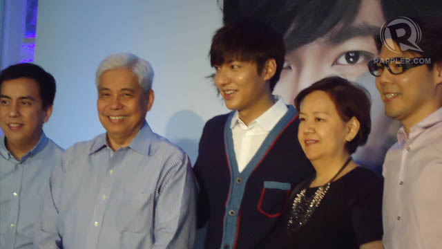 IN THE FAMILY. Lee Min Ho with Suyen's (from left) Bryan Lim, Mr and Mrs Virgilio Lim and Miguel Pastor