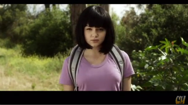 HOLA MIS AMIGOS. Live action Dora the explorer is coming your way. Screengrab from the Fake trailer by collegehumor