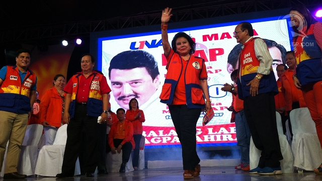 Jinggoy Campaigns For Erap Not Una