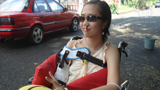 NO MORE WHEELCHAIR. Lordei has finally abandoned her wheelchair as her recuperation continues. Photo from Connie Hina