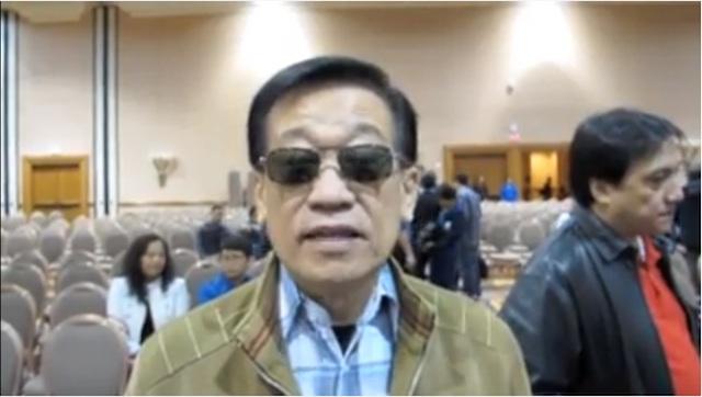 'HINDI SIYA DUMATING' Atty Romulo Macalintal says it's unfortunate that Manny Pacquiao missed this particular pre-fight Catholic Mass on the day of the Feast of the Immaculate Conception. Pacquiao, he said, had been a Marian devotee. Framegrab from video by Keats London.