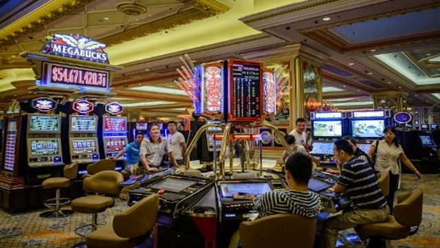 A casino of the Venetian hotel in Cotai in Macau. Photo from AFP