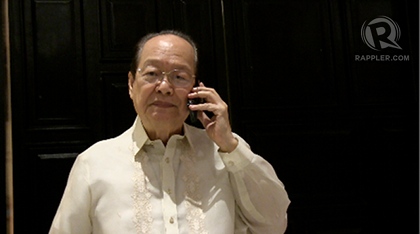 former senator Ernesto Maceda (Photo by Vicente Roxas)