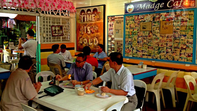 OLD TIMERS. Madge Cafe in La Paz Iloilo is a favorite place for locals to talk shop and meet. The cafe was founded in 1951 by Vicente de la Cruz. All photos by Zak Yuson.