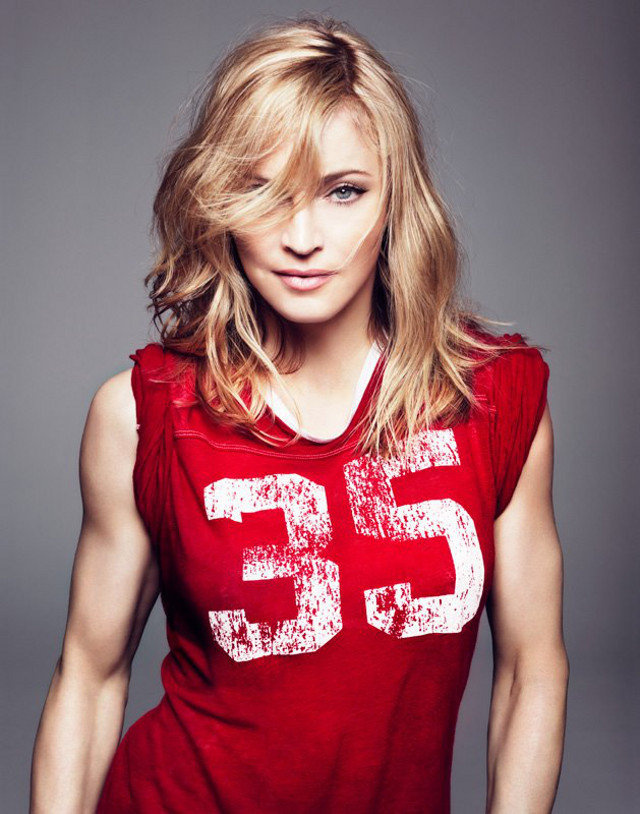YOUTHFUL AT 50 FOR A REASON. Madonna doesn't smoke. Photo from the official Madonna Facebook page