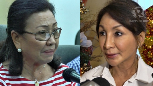 'NOT THEIR BATTLE.' Allies of Acting Governor Agnes Magpale (left) say the Cebu capitol standoff is not a battle between her and Governor Gwen Garcia (right) but between Garcia and Malacañang.