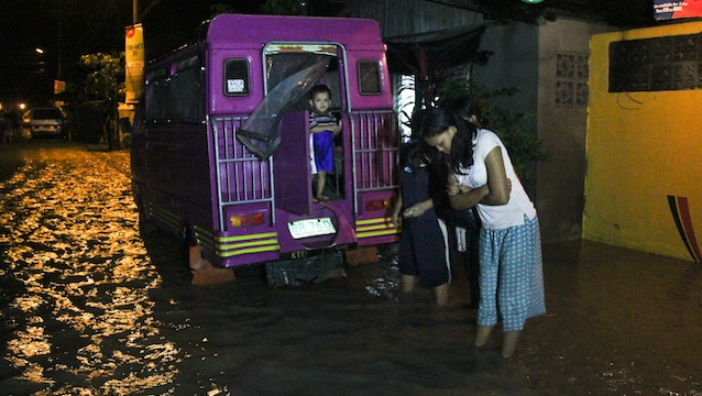 UNDER WATER. Caught in a catch basin, several Maguindanao villages are now under water after typhoon &quot;Pablo.&quot; Photo by Ferdh Cabrera