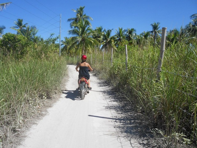 Renting a motorbike is a fun way of exploring the island. Photo by Charisse Anderson