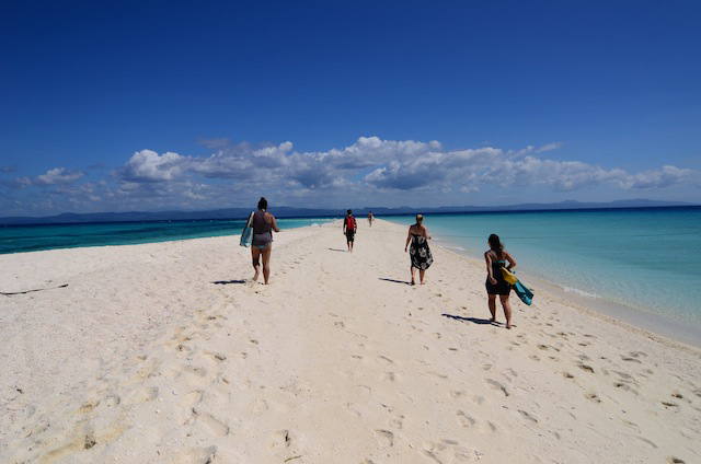 Kalanggaman island's sparkling white sand bars are its main attraction. Photo by Aya Lowe 