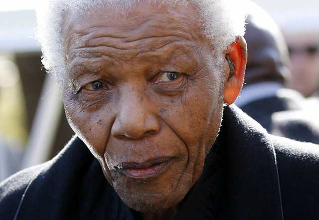MANDELA. A picture taken on June 17, 2010 shows former South African President Nelson Mandela in Sandton. File photo by AFP.