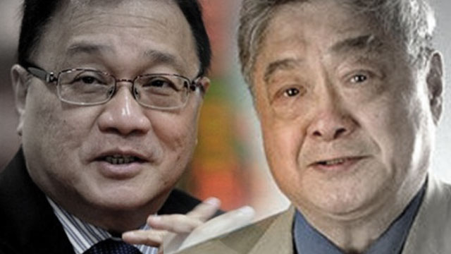 MORE DEALS? The Pangilinan and Gokongwei groups are exploring partnership opportunities, particularly in the power sector. Gokongwei's photo via his Facebook page, Pangilinan's photo via AFP.