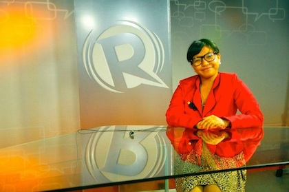 GUESS WHO? Yup, that's me, impersonating Ma'am Maria Ressa. Photo by Joulo Visabella.