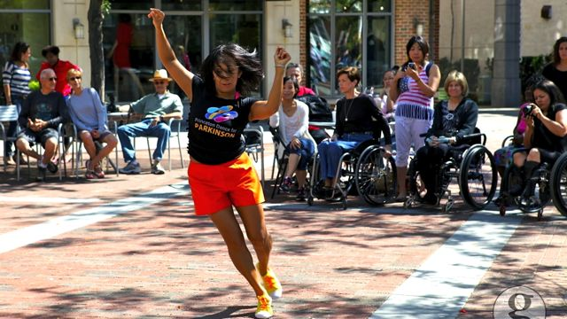 MORE THAN DANCE. Marie Alonzo-Snyder at the Zouk-Lambada flash mob in Princeton. All photos from Marie Alonzo-Snyder