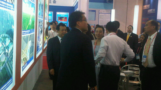 SPECIAL ENVOY. Interior Secretary Mar Roxas at the China-ASEAN Expo in Nanning, China. Photo by Presidential Spokesperson Edwin Lacierda