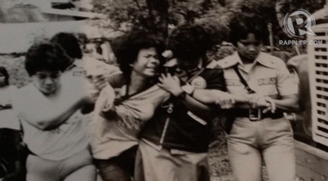 MASS ARRESTS. Martial law led to the arrest of Marcos critics. Photo courtesy of Dr Ferdinand Llanes, from the exhibit of UP Likas