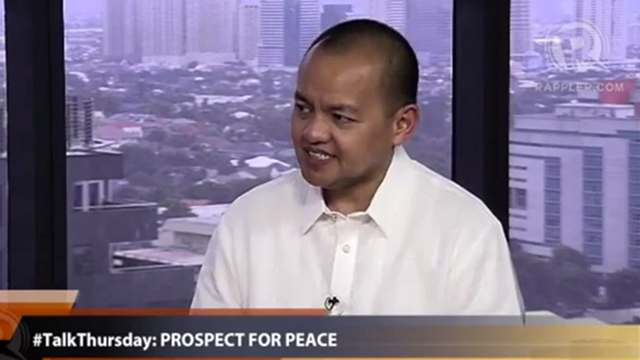 SC JUSTICE? Government peace panel chairman and former UP Law Dean Marvic Leonen accepts his nomination for SC Associate Justice. File photo
