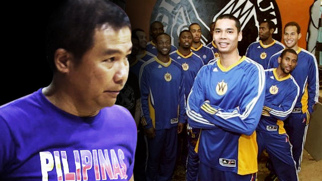 FATHERLY ADVICE. Gilas coach Chot Reyes tells Japeth Aguilar playing time is earned, not demanded.